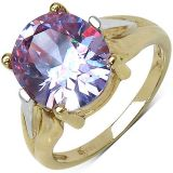 6.30ctw Purple Cubic Zirconia 14k Yellow Gold Plated Brass Ring 279113