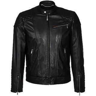Full Sleeve Solid Mens Jacket (Black)