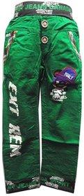 Faber Men Regular Fit Green Jeans