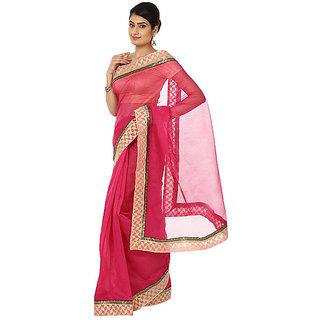 Silks Women Corporate Pink Pure Kota Cotton Plain Saree