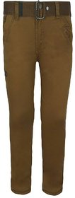 Jazzup Brown color slim fit high waist Jeans for men