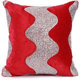 LEHAR - Wave Design Velvet Cushion Cover - Set Of 2