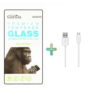 Screen Tempered Glass For Samsung Galaxy Grand 2 G7106 With Free USB Cable