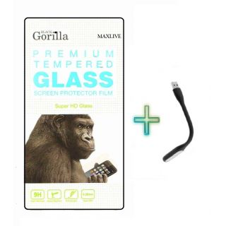 Screen Tempered Glass For HTC Desire 326 With Free Usb Light
