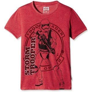 03cc4fc308 Star Wars mens 100 Cotton white round neck Half sleeve round neck T-Shirt