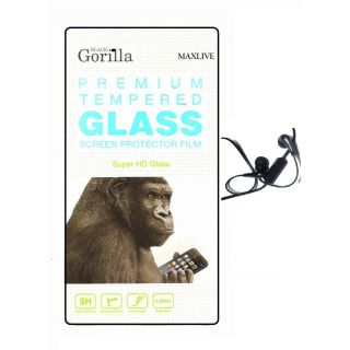 Screen Tempered Glass For Micromax A093 Canvas Fire WithFree Earphone