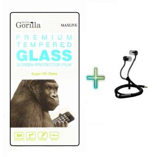 Screen Tempered Glass For Samsung Galaxy Note 4 With Free  Zipper Earphone