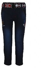 Perry Men's Embroidered Denim Regular Fit Blue Jeans