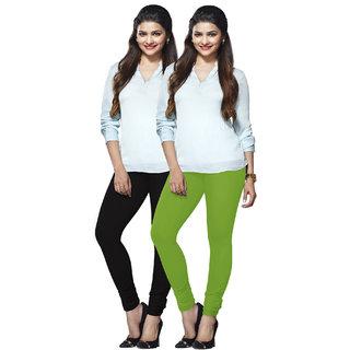 Lux Lyra Multicolored Pack of 2 Cotton Leggings LyraIC1186FS2PC