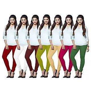 Lux Lyra Multicolored Pack of 7 Cotton Leggings LYRAIC02101315183351FS7PC