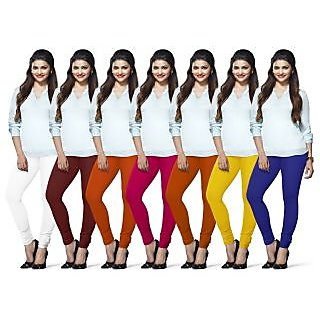 Lux Lyra Multicolored Pack of 7 Cotton Leggings LYRAIC10131733576067FS7PC