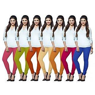 Lux Lyra Multicolored Pack of 7 Cotton Leggings LYRAIC14151718213349FS7PC