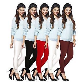 Lux Lyra Multicolored Pack of 5 Cotton Leggings LyraIC09101112135PC