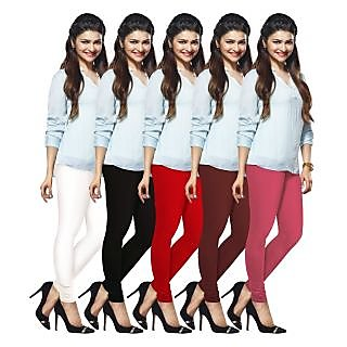 Lux Lyra Multicolored Pack of 5 Cotton Leggings LyraIC10111213145PC