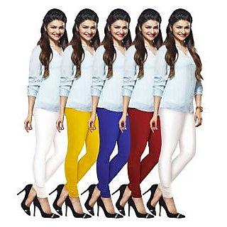 Lux Lyra Multicolored Pack of 5 Cotton Leggings LyraIC10606702095PC