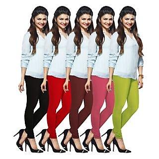 Lux Lyra Multicolored Pack of 5 Cotton Leggings LyraIC11121314155PC