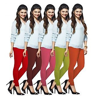 Lux Lyra Multicolored Pack of 5 Cotton Leggings LyraIC12131415175PC