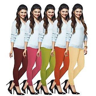 Lux Lyra Multicolored Pack of 5 Cotton Leggings LyraIC13141517185PC