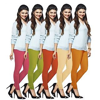 Lux Lyra Multicolored Pack of 5 Cotton Leggings LyraIC14151718215PC