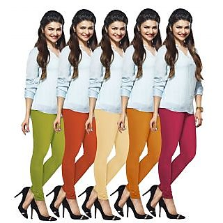 Lux Lyra Multicolored Pack of 5 Cotton Leggings LyraIC15171821335PC