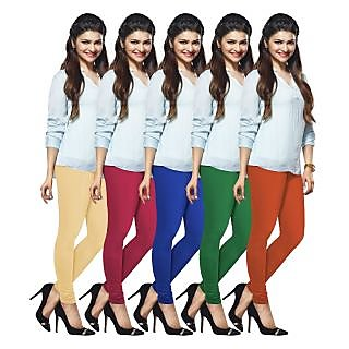 Lux Lyra Multicolored Pack of 5 Cotton Leggings LyraIC18334951575PC