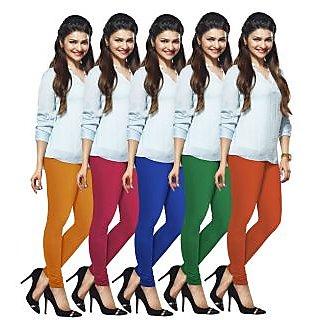 Lux Lyra Multicolored Pack of 5 Cotton Leggings LyraIC21334951575PC