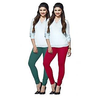 Lux Lyra Multicolored Pack of 2 Cotton Leggings LyraIC2982FS2PC