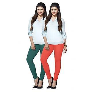 Lux Lyra Multicolored Pack of 2 Cotton Leggings LyraIC2985FS2PC