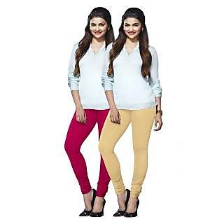 Lux Lyra Multicolored Pack of 2 Cotton Leggings LyraIC3340FS2PC