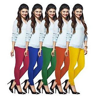 Lux Lyra Multicolored Pack of 5 Cotton Leggings LyraIC49515760675PC
