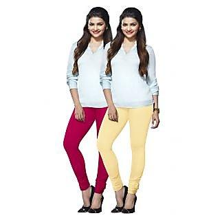 Lux Lyra Multicolored Pack of 2 Cotton Leggings LyraIC3377FS2PC