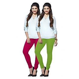 Lux Lyra Multicolored Pack of 2 Cotton Leggings LyraIC3386FS2PC