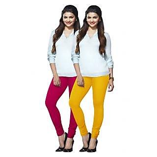 Lux Lyra Multicolored Pack of 2 Cotton Leggings LyraIC3388FS2PC
