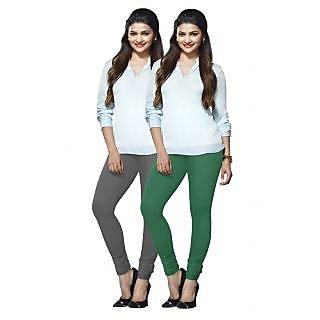Lux Lyra Multicolored Pack of 2 Cotton Leggings LyraIC3784FS2PC