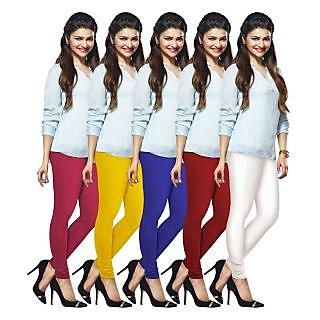 Lux Lyra Multicolored Pack of 5 Cotton Leggings LyraIC49606702095PC