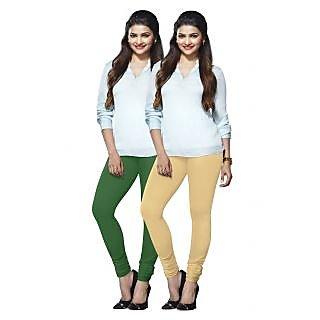 Lux Lyra Multicolored Pack of 2 Cotton Leggings LyraIC5140FS2PC
