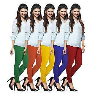 Lux Lyra Multicolored Pack of 5 Cotton Leggings LyraIC51576067025PC