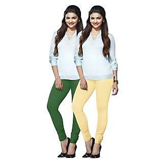 Lux Lyra Multicolored Pack of 2 Cotton Leggings LyraIC5177FS2PC