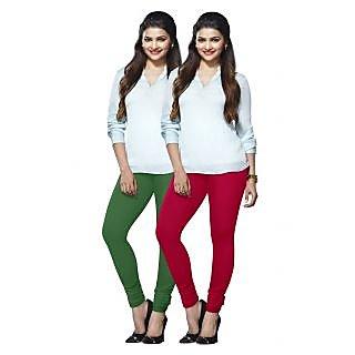 Lux Lyra Multicolored Pack of 2 Cotton Leggings LyraIC5182FS2PC