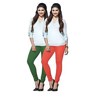 Lux Lyra Multicolored Pack of 2 Cotton Leggings LyraIC5185FS2PC