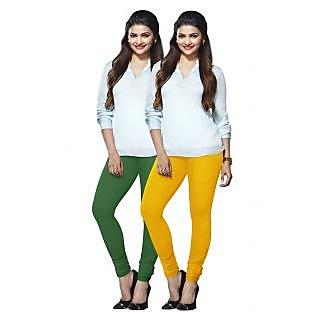 Lux Lyra Multicolored Pack of 2 Cotton Leggings LyraIC5188FS2PC