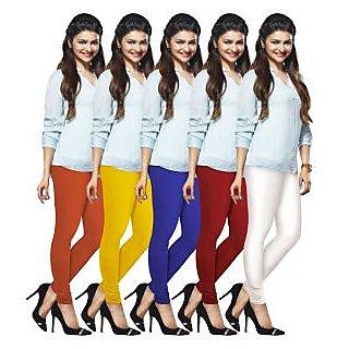 Lux Lyra Multicolored Pack of 5 Cotton Leggings LyraIC57606702095PC