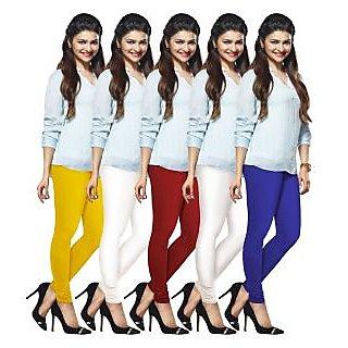 Lux Lyra Multicolored Pack of 5 Cotton Leggings LyraIC60670209105PC