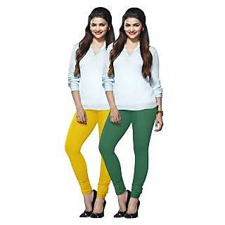 Lux Lyra Multicolored Pack of 2 Cotton Leggings LyraIC6084FS2PC