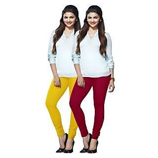 Lux Lyra Multicolored Pack of 2 Cotton Leggings LyraIC6089FS2PC