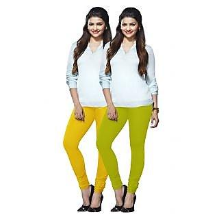 Lux Lyra Multicolored Pack of 2 Cotton Leggings LyraIC6090FS2PC