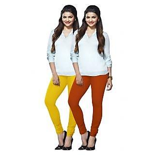 Lux Lyra Multicolored Pack of 2 Cotton Leggings LyraIC6091FS2PC