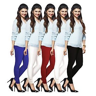 Lux Lyra Multicolored Pack of 5 Cotton Leggings LyraIC67020910115PC