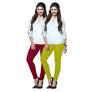 Lux Lyra Multicolored Pack of 2 Cotton Leggings LyraIC8990FS2PC