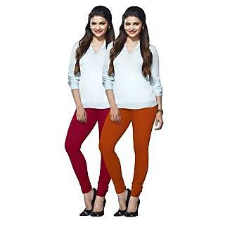 Lux Lyra Multicolored Pack of 2 Cotton Leggings LyraIC8991FS2PC